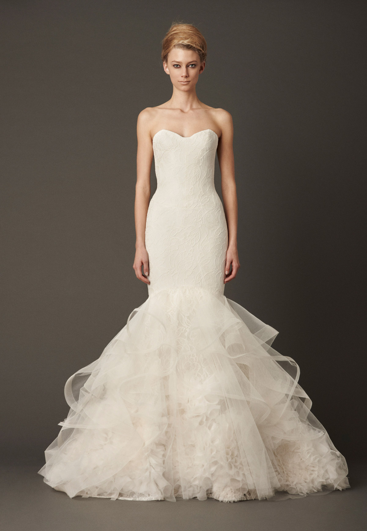 Mermaid Style Wedding Dresses Vera Wang : Vera wang lillian
